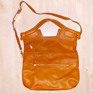Cognac tote by Foley and Corinna